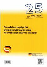 Okładka książki: Dwadzieścia pięć lat Związku Stowarzyszeń Niemieckich Warmii i Mazur