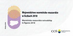 Okładka książki: Województwo warmińsko-mazurskie w liczbach 2018