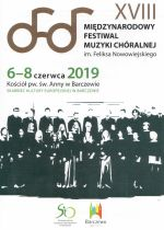 Okładka książki: [Osiemnasty] XVIII Międzynarodowy Festiwal Muzyki Chóralnej im. Feliksa Nowowiejskiego