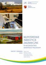 Okładka książki: Bezpośrednie inwestycje zagraniczne w województwie warmińsko-mazurskim