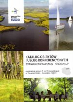 Okładka książki: Katalog obiektów i usług konferencyjnych województwa warmińsko-mazurskiego