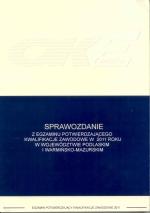 Okładka książki: Sprawozdanie z egzaminu potwierdzającego kwalifikacje zawodowe przeprowadzonego w 2011 roku w województwie podlaskim i warmińsko-mazurskim