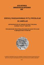 Okładka książki: Erdviu pasisavinimas rytu Prusijoje XX amžiuje