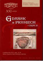 Okładka książki: Gdańsk w Prusiech - cz. II