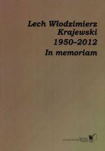 Okładka książki: Lech Włodzimierz Krajewski 1950-2012