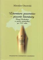 Okładka książki: Literatura powrotów - powrót literatury