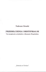 Okładka książki: Przemilczenia i mistyfikacje