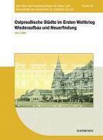 Okładka książki: Ostpreussische Sätdte im Ersten Weltkrieg