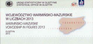 Okładka książki: Województwo warmińsko-mazurskie w liczbach 2013