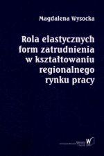 Okładka książki: Rola elastycznych form zatrudnienia w kształtowaniu regionalnego rynku pracy